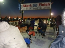 Former Iditarod winner Martin Buser ready at the starting gate