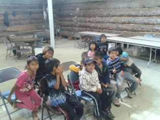 Class of younger kids in Grayling. Three of these kids were saved!